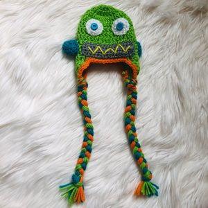 Crochet robot hat for newborn 🤖
